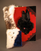 Handmade Book with Furry Cover