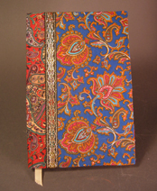 Handmade Book with Paisley Cloth Cover