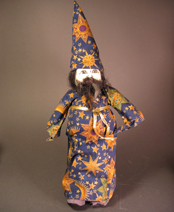 Hand-sewn Wizard Doll